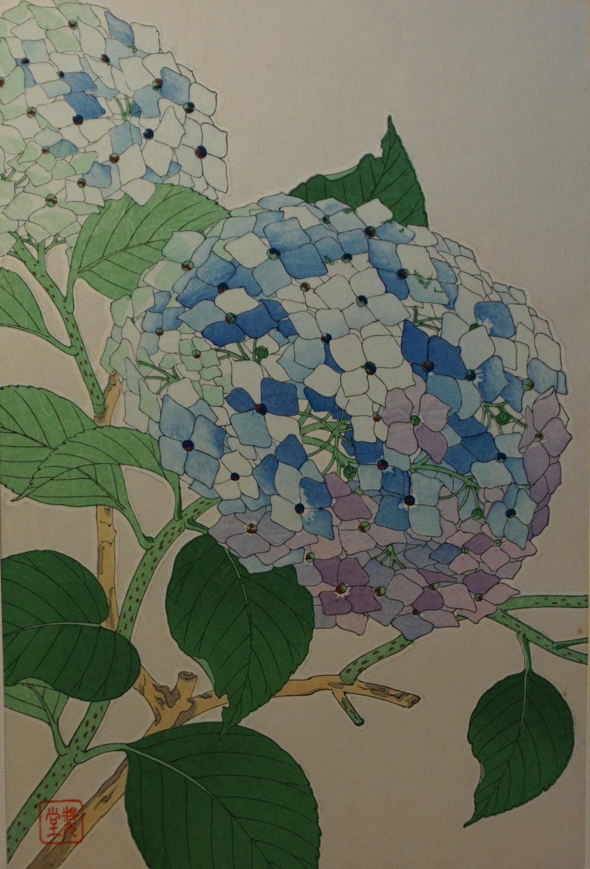 日本の版画 - 花 -